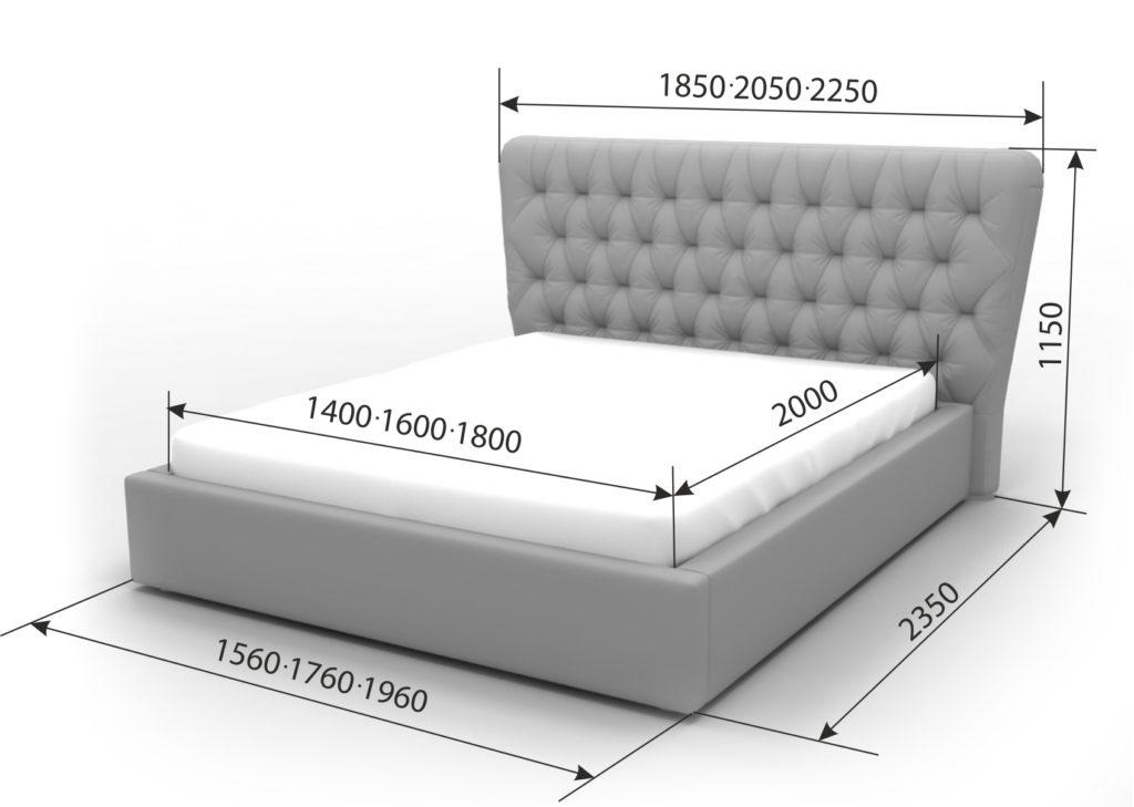 Двуспальная кровать Анжелика