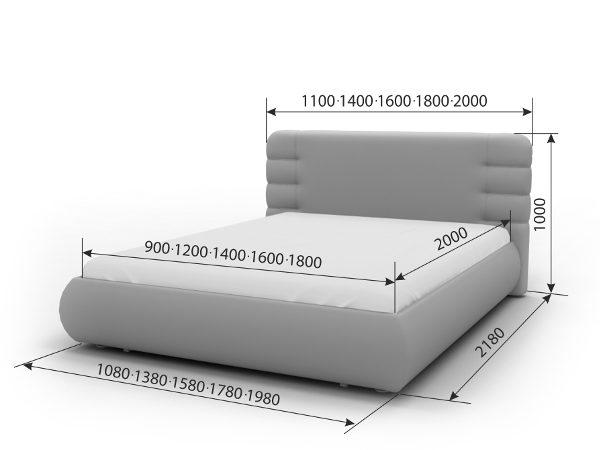 Двуспальная кровать Элегия