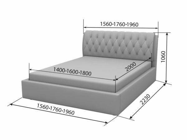 Двуспальная кровать Франческа