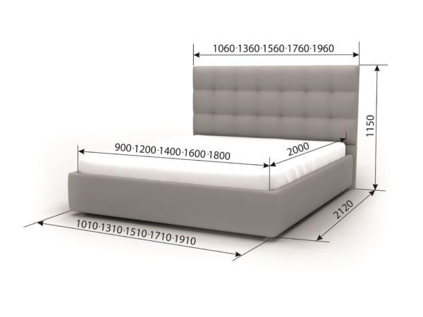 Двуспальная кровать Камила
