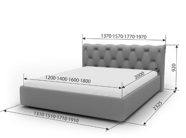 Двуспальная кровать Леон