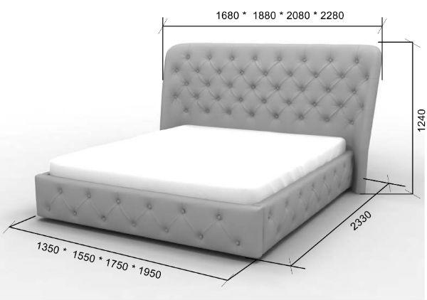 Двуспальная кровать Сильвия