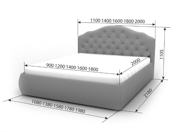 Двуспальная кровать Виктория